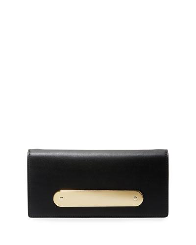Candy Bar Leather Clutch Bag