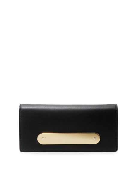 Candy Bar Leather Clutch Bag