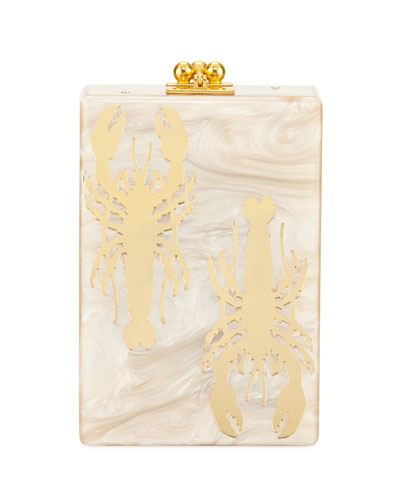 Carol Crayfish Acrylic Clutch Bag