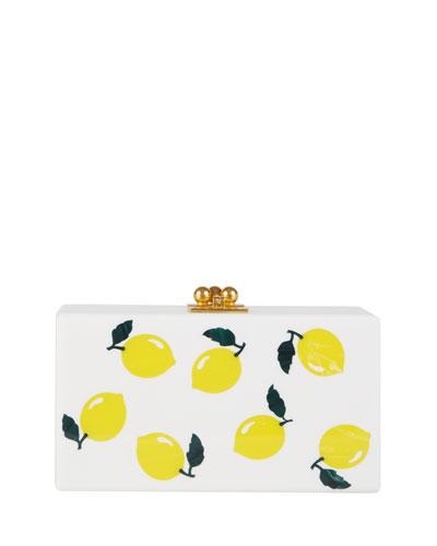 Jean Lemons Box Clutch Bag, White