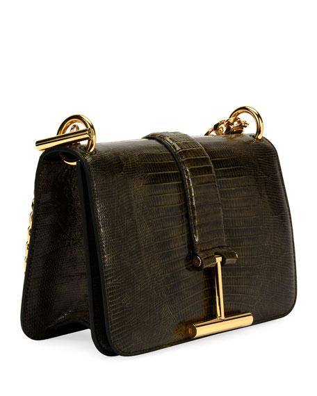Tara Chain Tegu Lizard Shoulder Bag