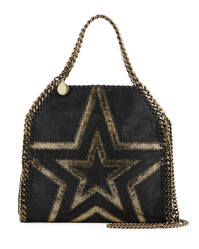 Shaggy Gradient Star Mini Falabella Tote Bag