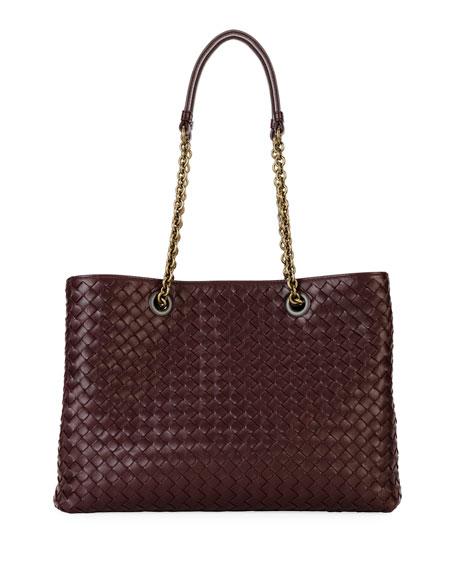Intrecciato Medium Double-Chain Tote Bag