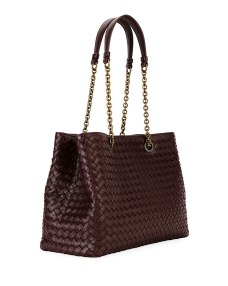 Intrecciato Medium Double-Chain Tote Bag