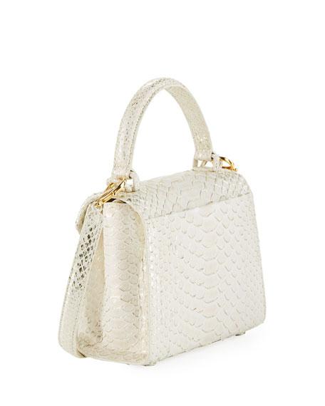 Python Small Top-Handle Crossbody Bag