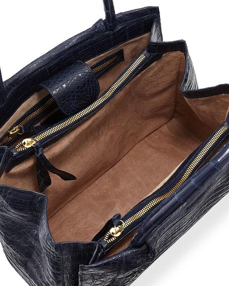 Small Crocodile Carryall Tote Bag