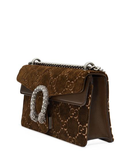 Dionysus Small GG Supreme Velvet Shoulder Bag