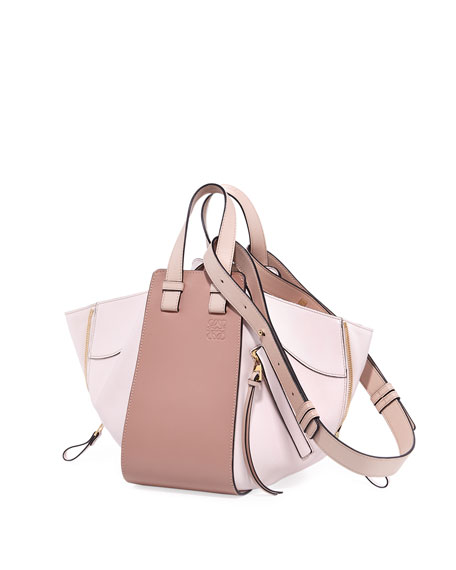 Hammock Small Colorblock Leather Tote Bag