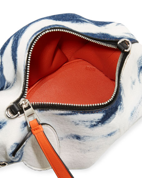 Tie-Dye Denim Elephant Mini Bag