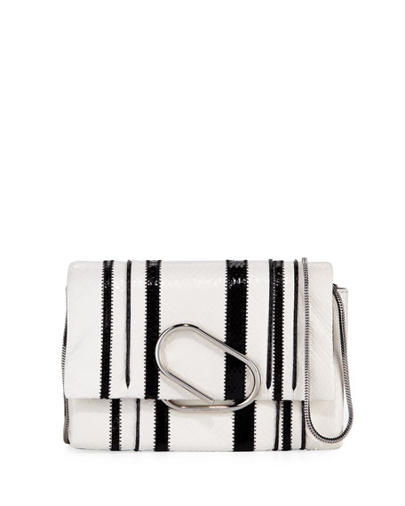 Alix Snake Soft Flap Clutch Bag