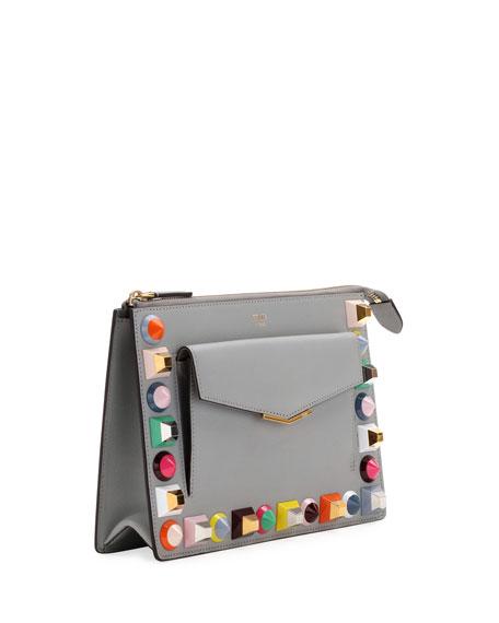 6a3d82ebb3 Fendi Mini Studded Crossbody Pouch Bag