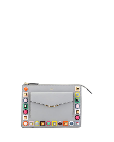Mini Studded Crossbody Pouch Bag, Multi Pattern