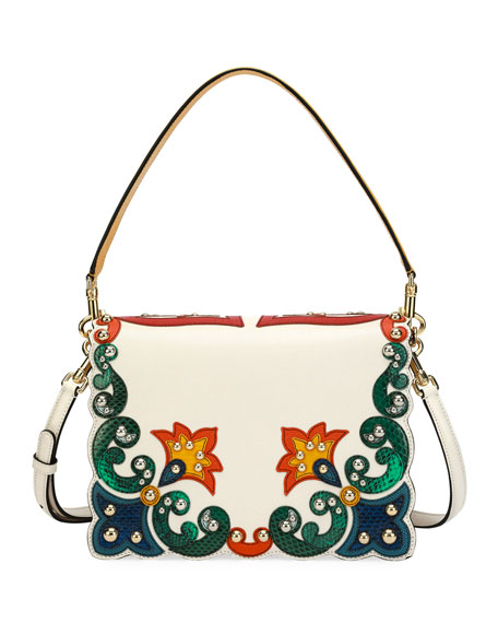 Lucia Vintage-Print Shoulder Bag
