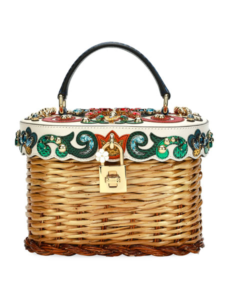 Dolce Cestino Wicker Basket Bag