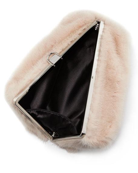 Mink Fur Frame Clutch Bag