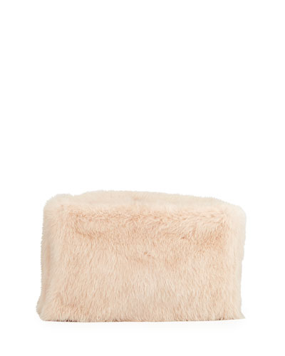 Mink Fur Frame Clutch Bag