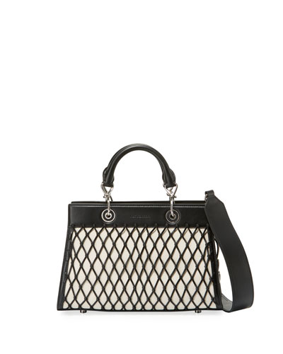 Shadow Small Grid Tote Bag