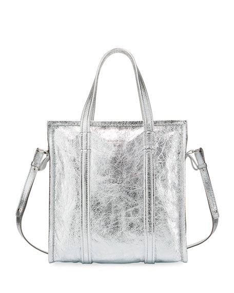 Bazar Shopper Small AJ Metallic Leather Tote Bag