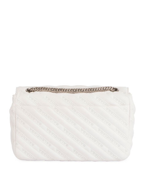 Logo-Quilted Leather Chain Shoulder Bag
