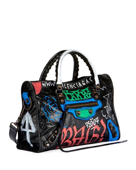 Classic Small City Graffiti-Print Tote Bag