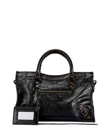 Classic City AJ Small Satchel Bag with Logo Strap