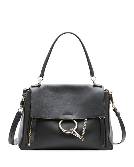Chloe Faye Day Small Pebbled Ring Shoulder Bag