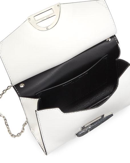 Curl Medium Smooth Leather Clutch Bag
