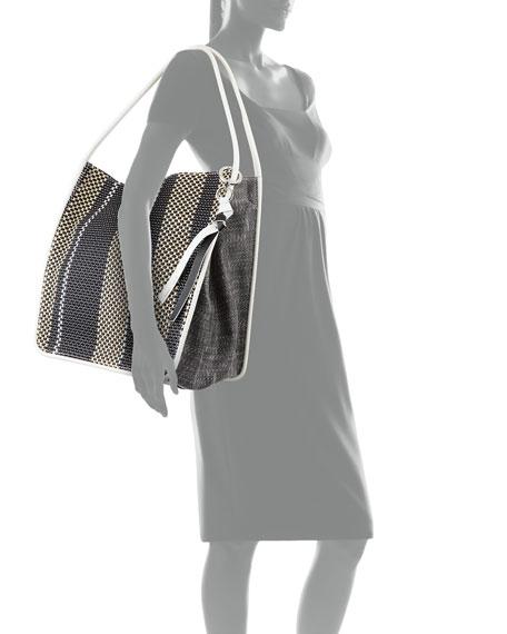 XL Mixed Woven Tote Bag