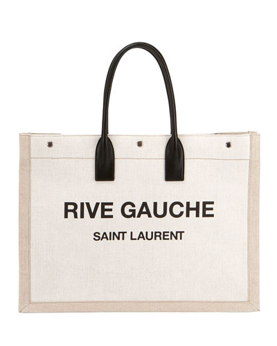 Noe Cabas Large Rive Gauche Canvas Tote Bag