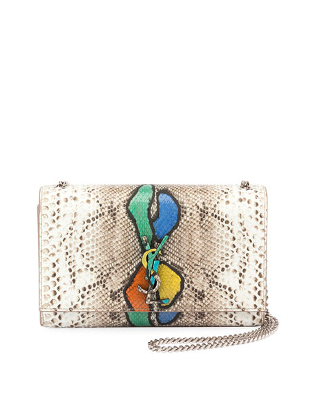 Kate Medium Python  Shoulder Bag
