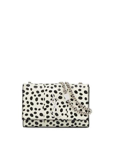Kate Monogram Small Dot Snakeskin Chain Crossbody Bag