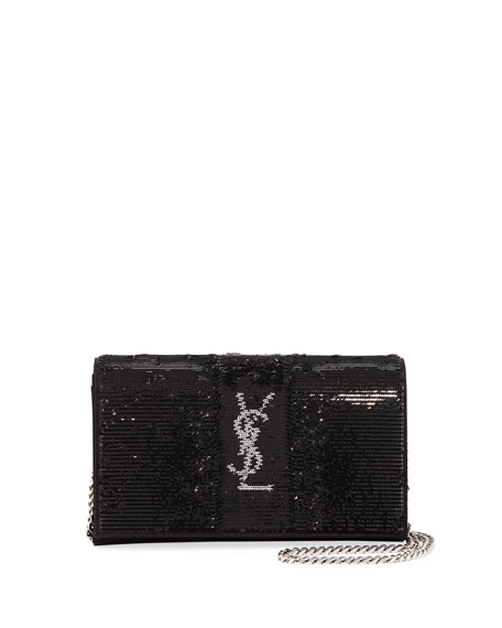 Monogram Paillettes Wallet on Chain
