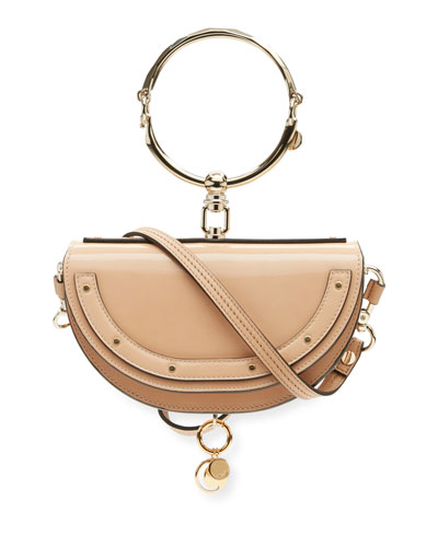 Nile Small Patent Bracelet Minaudiere Bag