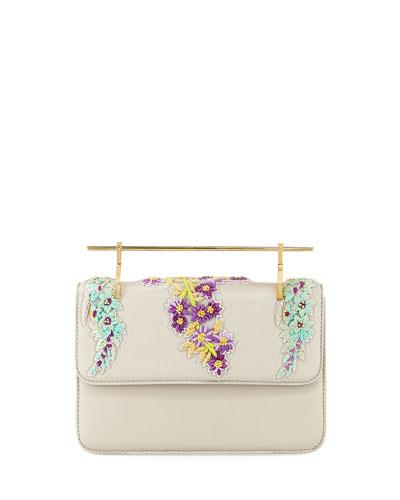 La Fleur Du Mal Floral Top Handle Bag
