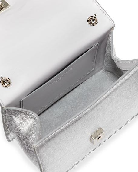 Mini Gardenia Metallic Leather Crossbody Bag