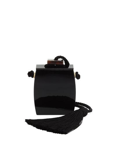 Resin Inrou Tassel Clutch Bag