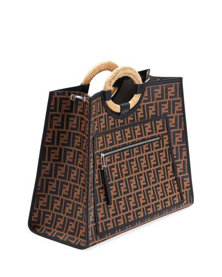 Runaway FF Embossed Century Shopper Tote Bag
