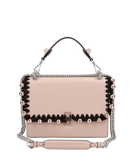 Fendi Kan I Medium Liberty Calf Shoulder Bag