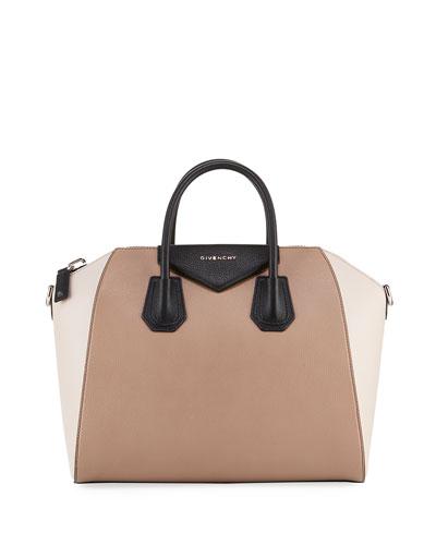 Antigona Medium Colorblock Satchel Bag