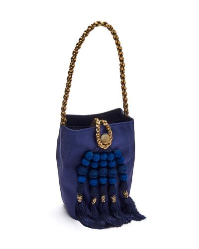 Gabriella Beaded Tassel Bucket Bag