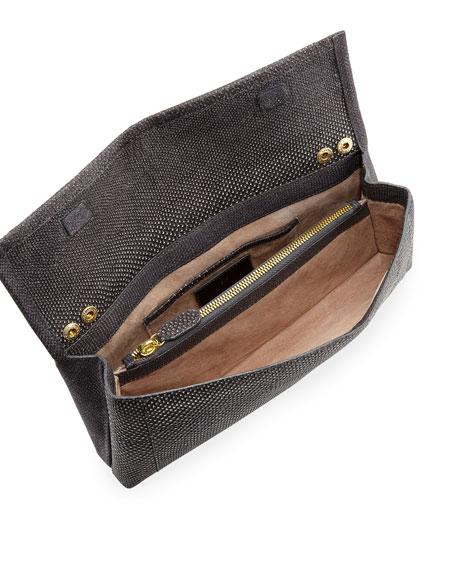 Gotham Karung Flap Clutch Bag