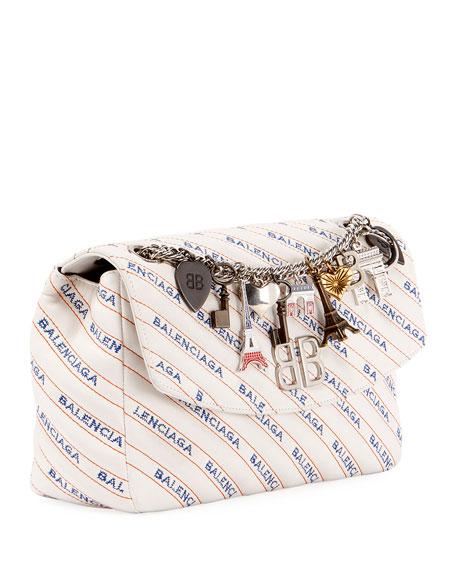 Balenciaga BB Logo Matelasse Leather Chain Shoulder Bag vgwnL1