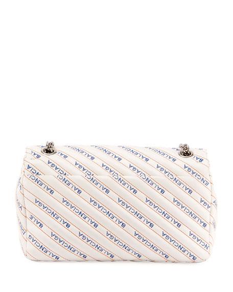 BB Logo Matelasse Leather Chain Shoulder Bag