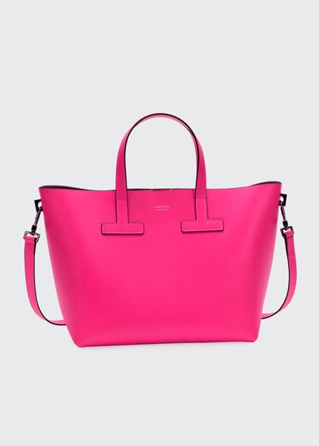 T Tote Mini Saffiano Leather  Bag