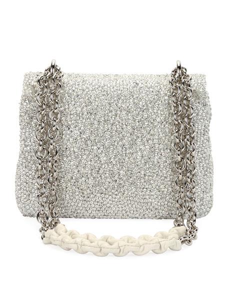 Natalia Small Crystal-Embellished Shoulder Bag