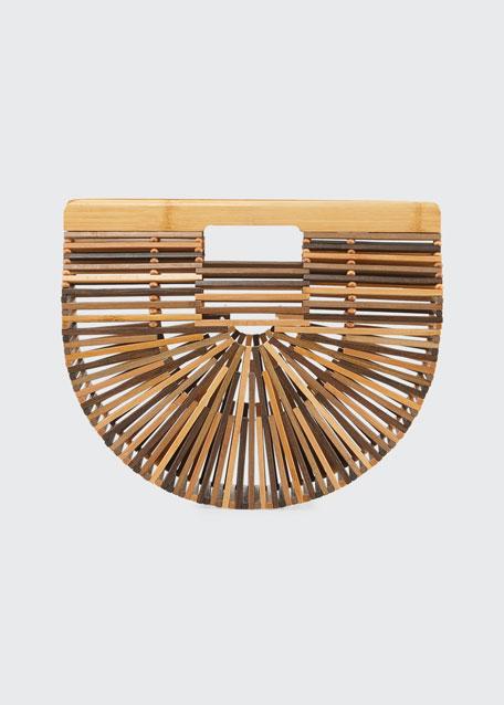 Gaia'S Ark Small Bamboo Clutch Bag, Medium Brown