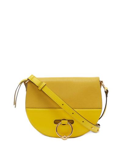 Leather Latch Saddle Bag