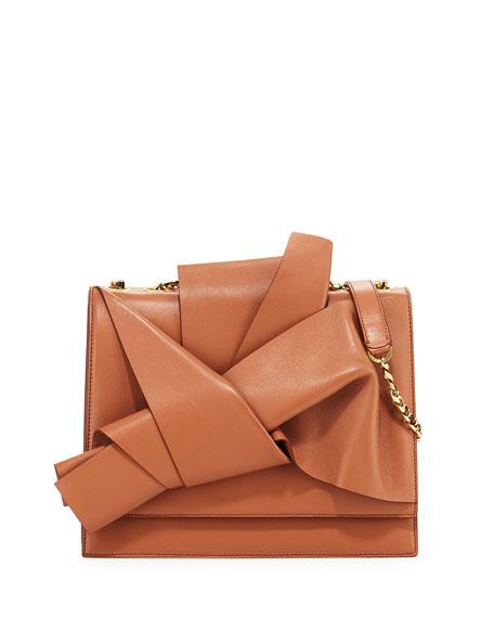 N°21 Large Leather Bow Shoulder Bag 5wII6B