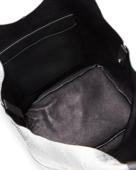 Camden Metallic Leather Shopper Bag