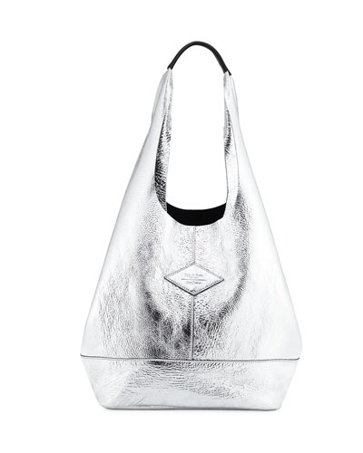 Camden Metallic Leather Shopper Bag